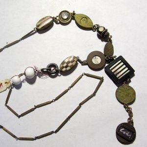 NWT Micromosaic BOHO Dangle Segment Necklace